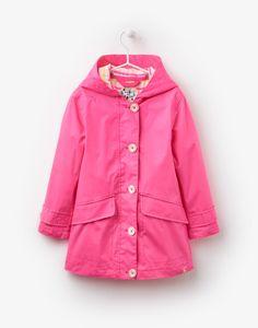 Jnrcoast Neon Candy Pink Showerproof Coat   Joules UK