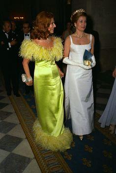 """The Battle of Versalles - 1973"". Marie-Helene de Rothschild with Princess Grace of Monaco."