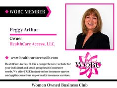 WOBC Member : Peggy Arthur - Owner- HealthCare Access LLC.