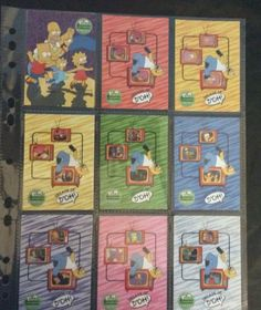 Simpsons10th Anniversary 2000 INKWORKS 81CARD SET-EXC Nr MINT+4 EMPTY WRAPPERS Collectible Cards, Empty, Anniversary, Mint, Peppermint