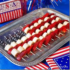 Flag Fruit for Your Patriotic Backyard Party