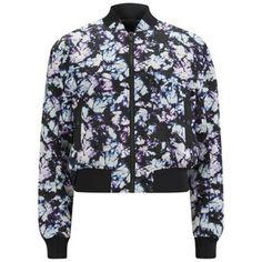 Alexander Wang Women's Kaleidoscope Tie-Dye Cropped Bomber Jacket - Multi
