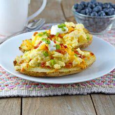 Creamy Scrambled Eggs in Crispy Potato Skins