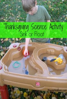 Thanksgiving Science Activity for Kids- Sink or Float : Kids will see what…