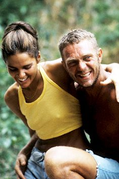 "Ali MacGraw and Steve McQueen photographed by Steve Schapiro during production of ""Papillon"" in Jamaica, 1972"