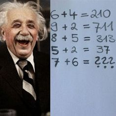 Anyone who can solve this number puzzle has an IQ of over higher than Albert Einstein, who had an IQ of who is even smarter? Number Puzzles, Maths Puzzles, Riddles To Solve, Albert Einstein Quotes, Brain Teasers, Man Humor, Fun Facts, Knowledge, Jokes