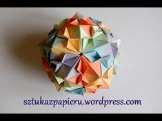 Origami Flower Kusudama - How to Fold an Origami Ball - Summer Crafts, Spring, Paper Crafts - YouTube