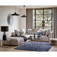 BuyJohn Lewis Native Weave Lined Eyelet Curtains, Steel, W167 x Drop 228cm Online at johnlewis.com