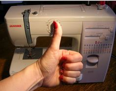 """Attention all beginning sewers (or those who have thought about it) """"how to sew using a sewing machine"""" -- This is a SUPER great beginner guide."""