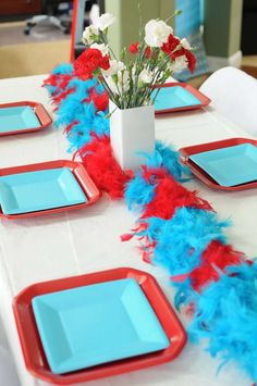 Cat in the Hat Birthday Party Ideas   Photo 6 of 25   Catch My Party