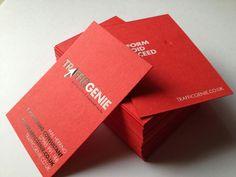 14 best red business cards images on pinterest carte de visite bright red letterpress business card colourmoves