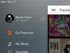 Ipad Landscape Sidebar designed by Nicola Felasquez Felaco for Musixmatch. Connect with them on Dribbble; Ios 7, Mobile App Design, Iphone Accessories, User Interface, My Music, Ipad, Graphic Design, Landscape, Gadgets