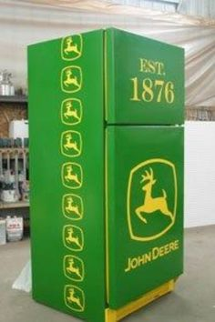 John Deere Fridge ( This would go wonderful in my kitchen)