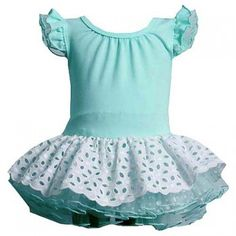 Bonnie Jean Blue White Eyelet Tutu Spring Summer Dress Girl 3M-4T