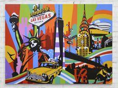 NY and Vegas | Pop Art | Lobo #lobopopart #artistabrasileiro #paintings #fineart…