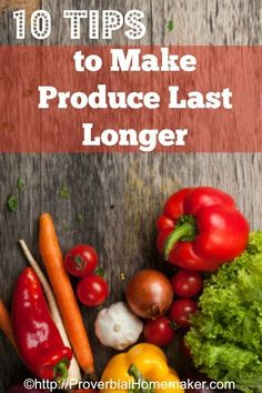 I hate having to throw out produce that has gone bad! Here are 10 tips to make produce last longer so you can stretch your grocery budget even further. Clean Eating, Healthy Eating, Organic Lifestyle, Juicing For Health, Save Money On Groceries, Menu Planning, Food Hacks, Food Tips, Homemaking