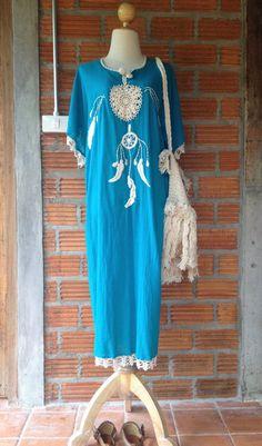 SALE Dream Catcher Embroidery Dress/ Handmade by SpellMaya on Etsy