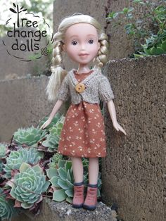 Tree Change Dolls™ Doll #175 OOAK, repainted, restyled, second-hand doll upcycled by artist Sonia Singh