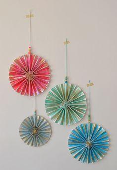 Watercolor Paper Pinwheels