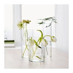 IKEA - CYLINDER, Vase, set of 3,  , , Can be stacked inside one another to save room when storing.