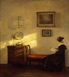 """Mujer leyendo"", de Carl Vilhelm Holsoe (1863-1935)."