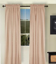 Solid Nude-Blush Colored Window Long Curtain - (available in many lengths and 3 rod pocket sizes)