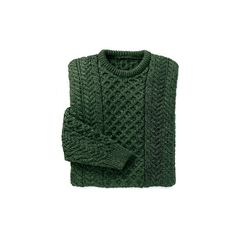 Merino Wool Aran Sweater Dark Green (1.023.050 IDR) ❤ liked on Polyvore featuring tops, sweaters, shirts, jumpers, green top, merino sweater, dark green top, shirt sweater and merino top