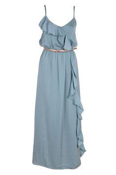 Renee frill front maxi blue