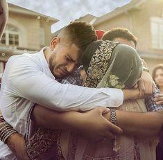 Bhai hugging his sister at her Vidaai Sister Wedding Pictures, Indian Wedding Pictures, Bridal Pictures, Indian Wedding Photography Poses, Wedding Poses, Photography Uk, Wedding Fun, Wedding Shoot, Dream Wedding