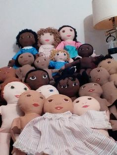 Doll Nation waiting for hair and clothing. 2014 Craft Fair entrants.