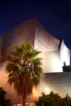 LOS ANGELES, CALIFORNIA - Disney Hall designed by architect Frank Gehry