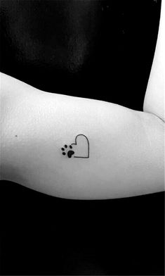 50 Cute Heart Shape Tattoo Designs You Can't Handle it - Page 46 of 50 - Chi. - 50 Cute Heart Shape Tattoo Designs You Can't Handle it – Page 46 of 50 – Chic Hostess - Dog Tattoos, Mini Tattoos, Trendy Tattoos, Body Art Tattoos, Tatoos, Tattoo For Dog, Cat Paw Print Tattoo, Puppy Tattoo, Tattoos For Pets