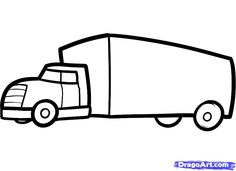 how to draw a truck for kids step - Simple Drawings For Toddlers
