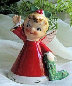 Vintage Napco 1956 Christmas Angel Bell
