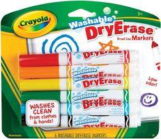 Crayola Washable Dry-Erase Markers, 6/Pkg