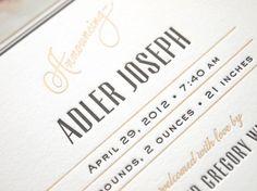 Baby Adler Birth Announcements.
