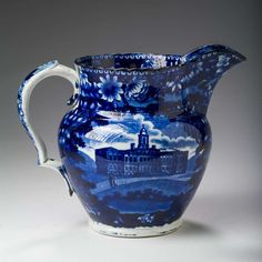 Buy online, view images and see past prices for 'CITY HALL, NEW YORK' AND 'INSANE ASYLUM, NEW YORK,' STAFFORDSHIRE DARK BLUE TRANSFER-PRINTED PITCHER, JAMES & RALPH CLEWS, 1821-36.. Invaluable is the world's largest marketplace for art, antiques, and collectibles.