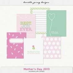 Mothers Day Journaling Cards
