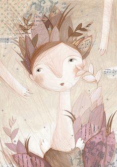 Art Print Постер wall art Angel Muse the fifth А4 от FromAnPro