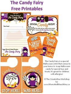 The Candy Fairy (also known as The Switch Witch) Free Printables #Halloween #SwitchWitch