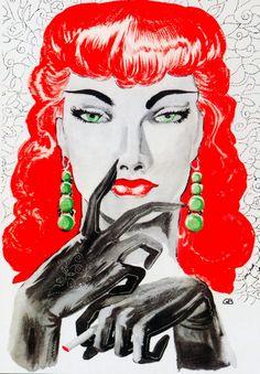 Gene Bilbrew 1950's fantastique sexy cool femme fatale