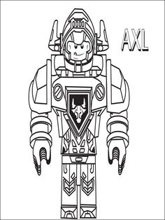 Lego Nexo Knights Coloring Pages Free Printable Lego Nexo - nexo knight coloring pages