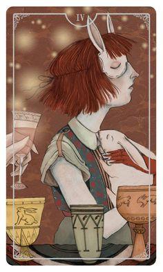 Four of Cups - Ostara Tarot by Eden Cooke