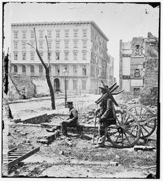 Charleston, S.C. The Mills House, with adjacent ruins. April 1865.