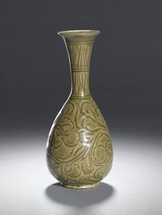 Yaozhou celadon wine bottle. Northern Song Dynasty, 11th-12th century