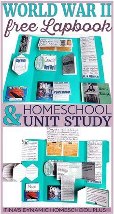World War II Homeschool History Free Unit Study and Lapbook via @tinashomeschool
