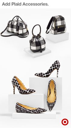 Both classic and modern plaid makes black and white playful and chic. Whether splashed on a bucket bag or a pair of heels (like these cute options from Adam Lippes for Target), chic accessories are a perfectly polished way to anchor your fall look. And, the entire collection is available now!