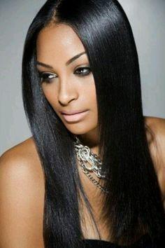 Beautiful long hair weave
