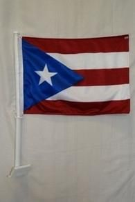 Puerto Rico Double Sided Car Flag