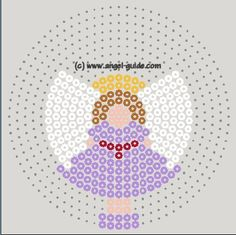Angel Christmas perler bead pattern